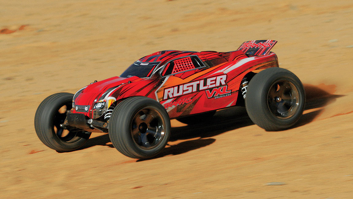 electric traxxas rustler vxl radio control truck w brushless motor ready to race 70 mph 27
